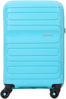 American Tourister Sunside Cabin Size Hard Luggage Bag ( Blue , 4 Wheels )