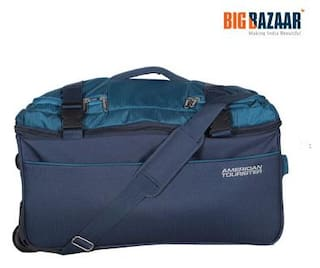 d8bd0a8c1e26 Buy American Tourister Polyester Men Duffle Bag - Blue Online at Low ...