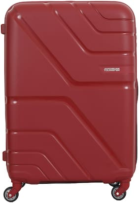 American Tourister Upland Cabin Size Hard Luggage Bag ( Red , 4 Wheels )