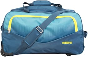 American Tourister Ohio Small Size Duffle Strolly Bag ( Blue , 2 Wheels )