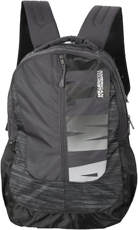 American Tourister Black Waterproof Polyester Backpack