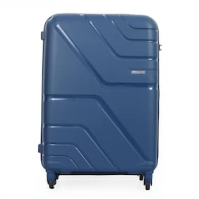 American Tourister Upland Cabin Size Hard Luggage Bag ( Blue , 4 Wheels )