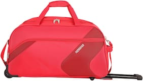 American Tourister Cabin Size Duffle Strolly - Red , 2 Wheels