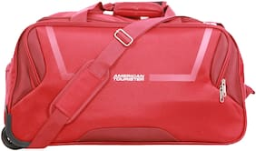 American Tourister Cosmo Small Size Duffle Strolly Bag ( Red , 2 Wheels )