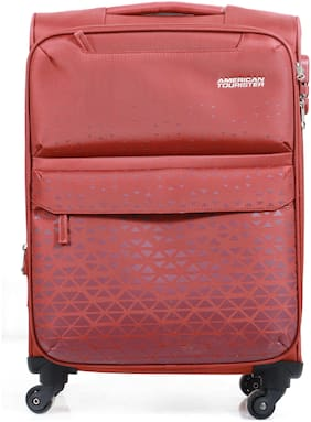 American Tourister Bradford Cabin Size Soft Luggage Bag ( Red , 4 Wheels )