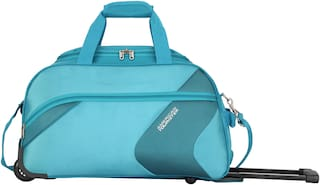 American Tourister Stanford Large Size Duffle Strolly Bag ( Blue , 2 Wheels )
