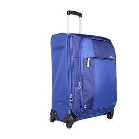American Tourister Blue Polyester 77 Cm Strolley Bag