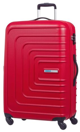 American Tourister Hard Luggage 4w Trolley SUNSET SQUARE SP77 RED