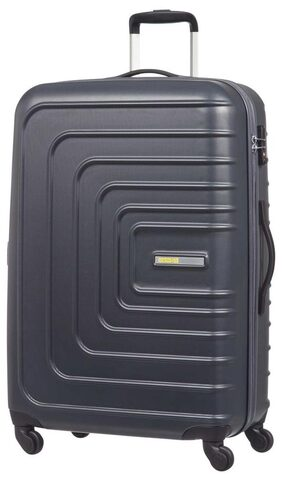American Tourister Hard Luggage 4w Trolley SUNSET SQUARE SP55 BLACK
