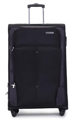 American Tourister Strolley Luggage (26 Inch, Black)