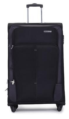 American Tourister Black Polyester Strolley