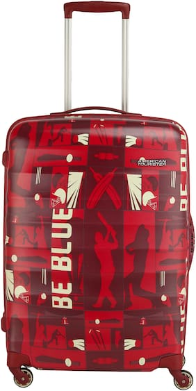 American Tourister Cabin Size Hard Luggage Bag - Red , 4 Wheels