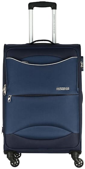 American Tourister Large Size Soft Luggage Bag - Blue , 4 Wheels