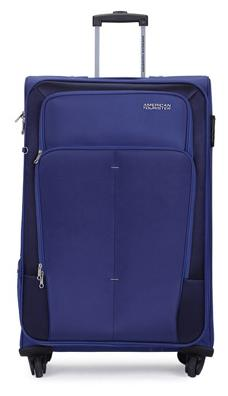 American Tourister Blue Polyester Strolley (Small Cabin Luggage)