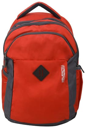 American Tourister Red Polyester Backpack