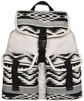 Anekaant White Canvas Backpack
