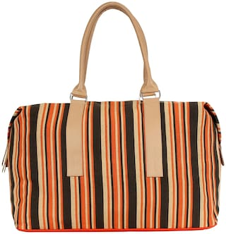 Anekaant Streak Cotton Travel Bag Multicolour