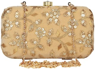 Anekaant Tulle Embroidered Velvet Clutch