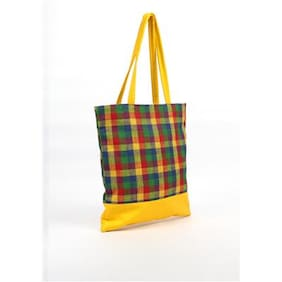 Anges Bags Women Solid Fabric - Tote Bag Yellow