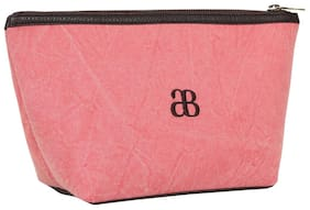 Anges Bags Women Canvas Vanity Case - Pink
