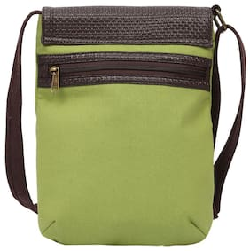 Anges Bags Women Solid Canvas - Sling Bag Green