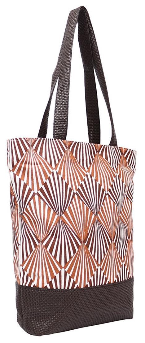Anges Bags Brown Canvas Shoulder Bag