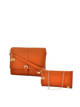 ca62fe9610de Anglopanglo Women Solid Pu - Sling Bag Tan