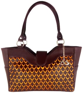 Anglopanglo Faux leather Women Handheld bag - Brown