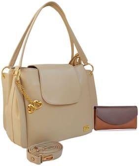 I DEFINE YOU Leather Women Handheld Bag - Tan