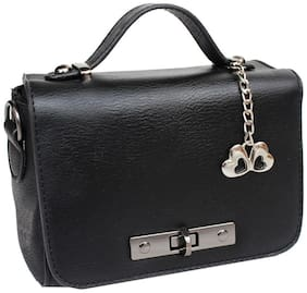Anglopanglo Faux leather Women Handheld bag - Black