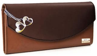 Anglopanglo Tan & Mustard Color Women's Wallet (Pack Of 5)