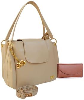 I DEFINE YOU Leather Women Handheld Bag - Brown