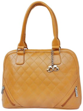 Anglopanglo Faux leather Women Handheld bag - Tan