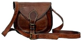 "Anshika International 9"" Leather Cross Body Bags Leather Sling Bag For Women Purse"