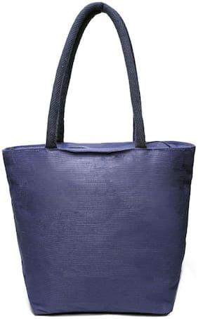 Anshika International blue reusable 100% jute cotton bags for women & girls