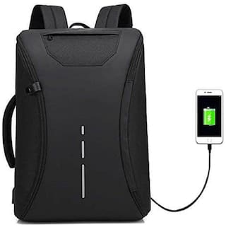 Awestuffs Anti Theft 3 Large (Above 20 inches) Waterproof Laptop Backpack - Black