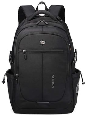 Aoking Aoking 28 Liters Laptop Backpack (AOBPPO-156BL8_Black) Small (Upto 17 inches) Waterproof Laptop Backpack - Black