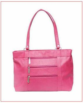Aone Women Pu Handheld Bag - Pink