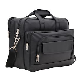 Aquador Laptop Cum Messenger Bag With Black Faux Vegan Leather
