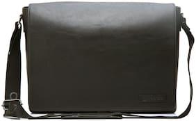 ARCADIO Black Leather Laptop messenger bag