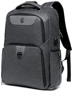 Arctic Hunter Large-Capacity Water Resistant Polyester Backpack 29 litres Laptop Backpack with Key Holder fits 15.6 inch laptops (Dark Grey)
