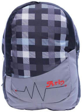 Arip Grey Polyester Laptop Backpack