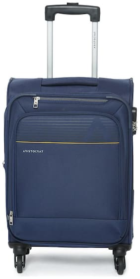 ARISTOCRAT Cabin Size Soft Luggage Bag ( Blue , 4 Wheels )