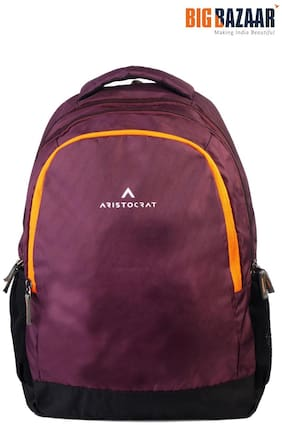 Aristocrat Maroon Waterproof Polyester Backpack