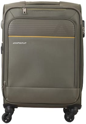 ARISTOCRAT AVALON Cabin Size Soft Luggage Bag ( Green , 4 Wheels )