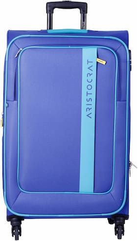 ARISTOCRAT Cabin Size Briefcase - Blue , 4 Wheels