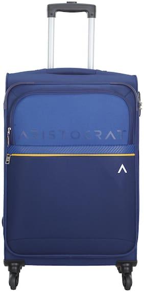 ARISTOCRAT BREZZA Medium Size Soft Luggage Bag ( Blue , 4 Wheels )