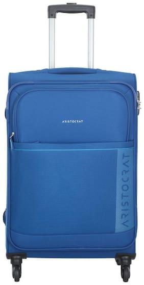 ARISTOCRAT Medium Size Soft Luggage Bag ( Blue , 4 Wheels )