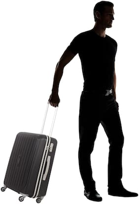 ARISTOCRAT Nitron Cabin Size Hard Luggage Bag ( Black , 4 Wheels )