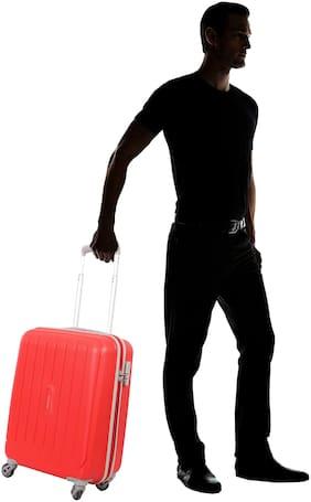ARISTOCRAT Nitron Cabin Size Hard Luggage Bag ( Red , 4 Wheels )